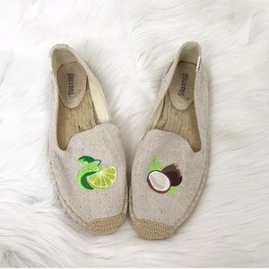 """{Soludos} """"Lime In The Coconut"""" Espadrille Flats"""